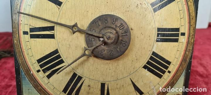 Relojes de pared: PAREJA DE RELOJES DE PARED. RATERAS. SELVA NEGRA. ALEMANIA. SIGLO XIX. - Foto 11 - 213688720