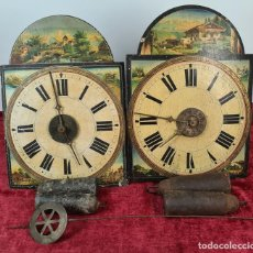 Relojes de pared: PAREJA DE RELOJES DE PARED. RATERAS. SELVA NEGRA. ALEMANIA. SIGLO XIX.. Lote 213688720