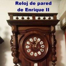 Relojes de pared: RELOJ DE PARED DE ENRIQUE II CON BARO / TERMÓMETRO. Lote 213933023