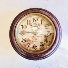 Relojes de pared: ANTIGUO RELOJ MECÁNICO DE PARED APEX FABRICADO POR ANSONIA U.S.A. DE MÁQUINA DE CUERDA Y DESPERTADOR. Lote 216568880