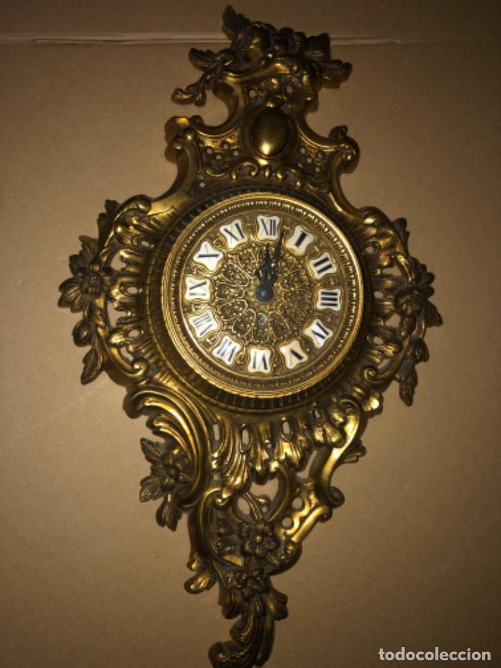 RELOJ DE PARED DE BRONCE ANTIGUO (Relojes - Pared Carga Manual)