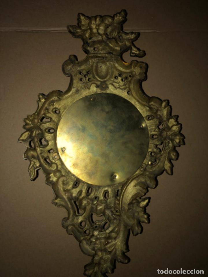 Relojes de pared: RELOJ DE PARED DE BRONCE ANTIGUO - Foto 4 - 218469703