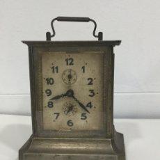 Relojes de pared: ANTIGUO RELOJ DE CARRUAJE - MARCA JUNGHANS - DESPERTADOR - CON LLAVE- FUNCIONA. Lote 218608135