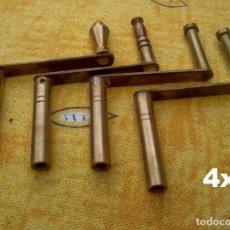 Relojes de pared: 4 LLAVES DE MANIVELA PARA RELOJES DE PARED VIENESES.. Lote 218705003