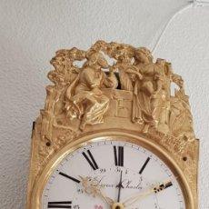 Relojes de pared: RELOJ MOREZ ANTIGUO DE CAMPANA CALENDARIO MUY DETALLADO MUY BUEN ESTADO FUNCIONA ALTA COLECCIÓN. Lote 218793358