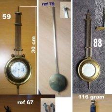 Relojes de pared: LOTE 02, MEZCLA DE 5 PENDULOS VARIOS, RELOJ DE PARED.. Lote 218878127