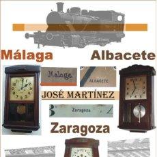"""Relojes de pared: RELOJ DE PARED - ESTACIÓN DE FERROCARRIL - MAESTRO RELOJERO """"JOSÉ MARTÍNEZ"""" / PARA MÁLAGA.. Lote 219337392"""