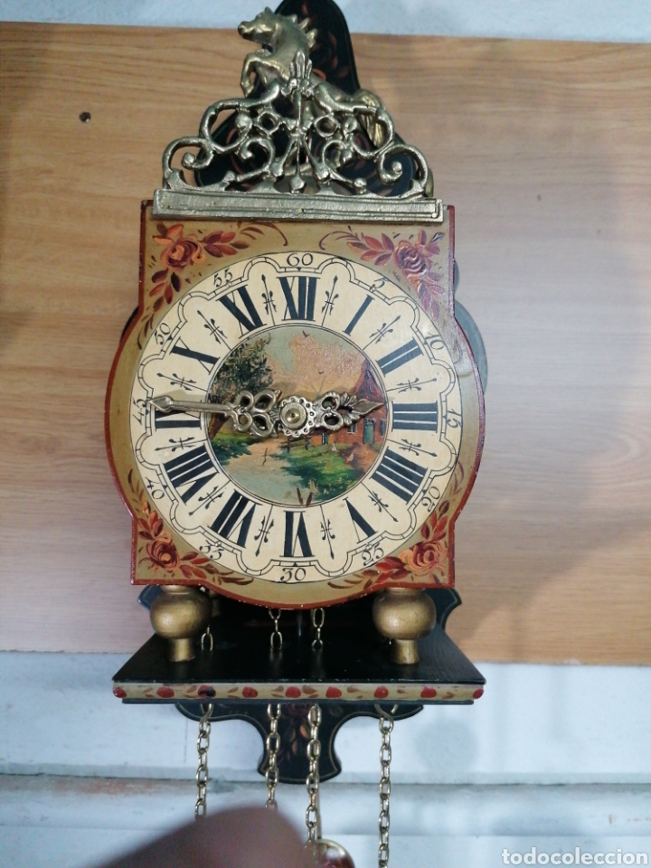 Relojes de pared: Reloj holandés muy bien conservado - Foto 2 - 219482771