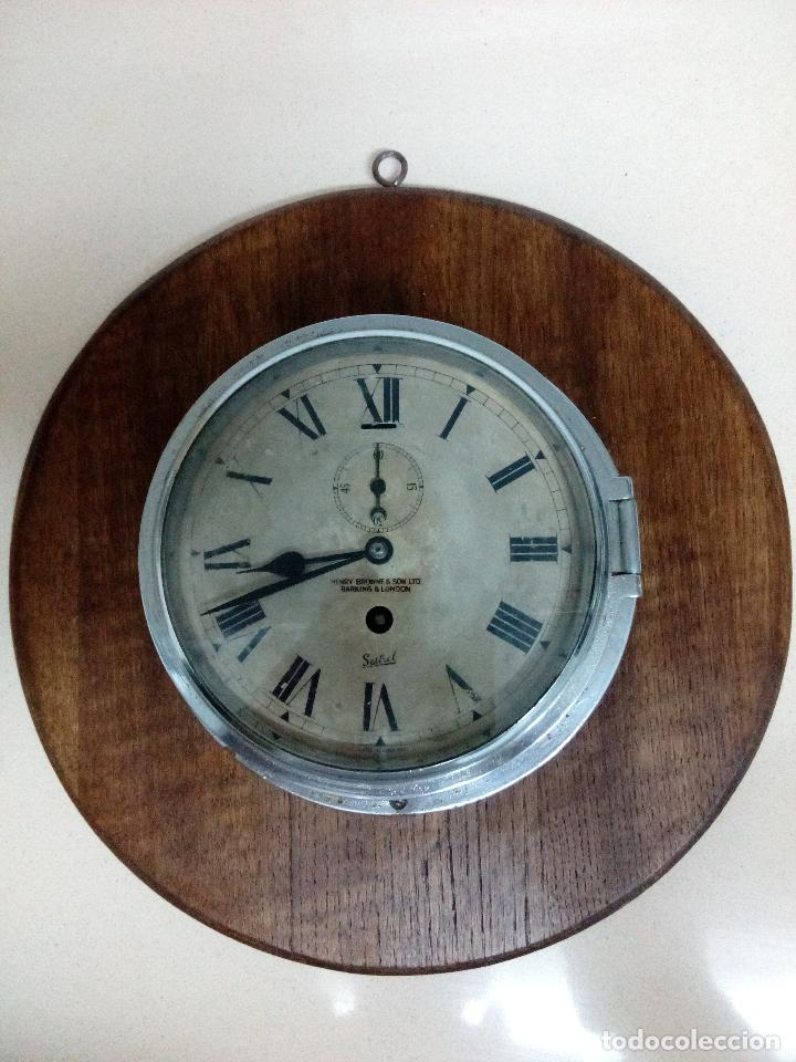 RELOJ DE BARCO,ANTIGUO (Relojes - Pared Carga Manual)