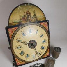 Relojes de pared: RELOJ DE PARED O RATERA.MADERA POLICROMADA.GORDIAN HETTICH AND SOHN,(ALEMANIA)-SIGLO XIX -----REF-DC. Lote 219899813