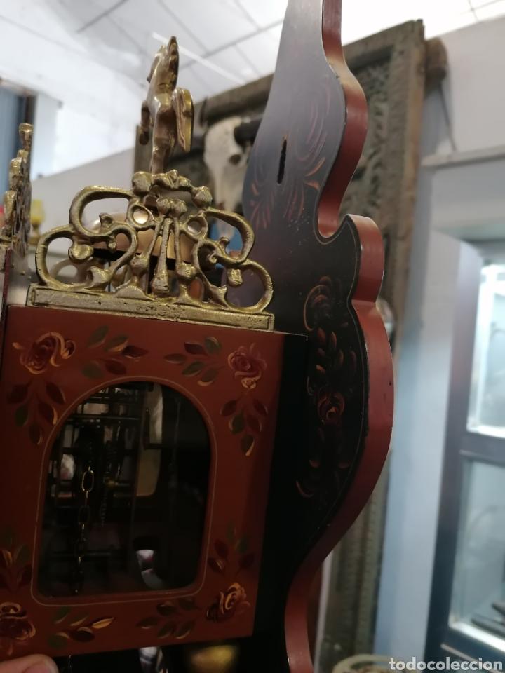 Relojes de pared: Reloj holandés muy bien conservado - Foto 9 - 219482771