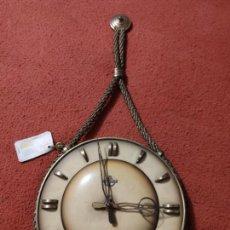 Relojes de pared: MAGNIFICO RELOJ ANTIGUO CUERDA NAUTICO CON LLAVE DIAMETRO 25 CM ANKERUHR. Lote 220983541