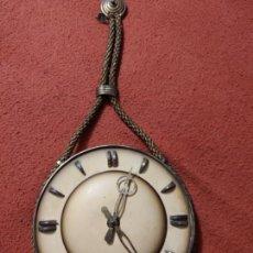 Relojes de pared: MAGNIFICO RELOJ ANTIGUO CUERDA NAUTICO CON LLAVE DIAMETRO ESFERA 25 CM. Lote 220984820