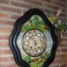 Relojes de pared: ANTIGUO OJO BUEY MOREZ-PINTADO AL ÓLEO- ESFERA ALABASTRO- AÑO 1880- LOTE 313. Lote 221159358