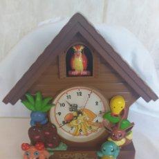 Relojes de pared: RELOJ CUCO DE PARED POKEMON MARCA QUARTZ. Lote 221450095