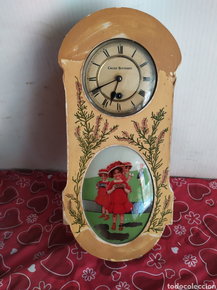 Relojes de pared: reloj antiguo cacao suchard muy raro funciona - Foto 2 - 221507735