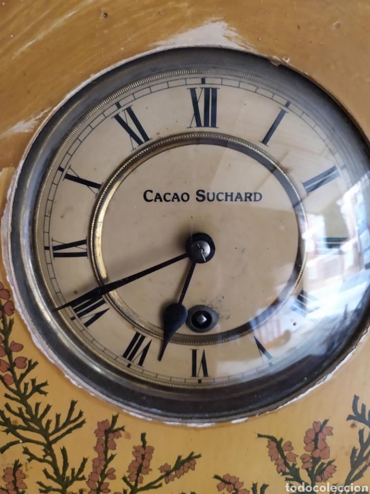 Relojes de pared: reloj antiguo cacao suchard muy raro funciona - Foto 3 - 221507735