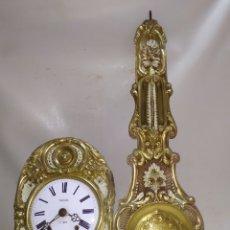 Relojes de pared: PRECIOSO RELOJ MOREZ PENDULO REAL POLICROMADO. Lote 221719096