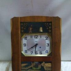 Relojes de pared: ESPECTACULAR RELOJ DE PARED AUTOMÁTA MUY RARO. Lote 221720412