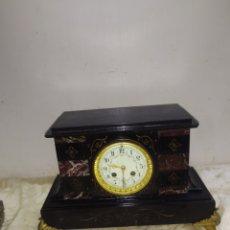 Relojes de pared: ANTIGUO RELOJ FRANCÉS MÁRMOL NEGRO SIGLO XIX. Lote 221720755