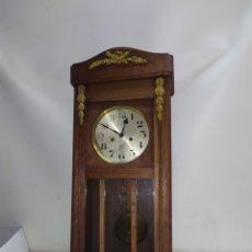 Relojes de pared: MAGNÍFICO RELOJ DE PARED GRAN BRETAÑA SIGLO XIX. Lote 221723068