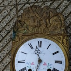 Relojes de pared: RELOJ MÁQUINA MOREZ,CAMPANA DE BRONCE. Lote 221754406