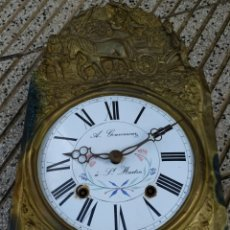 Relojes de pared: PRECIOSO RELOJ MOREZ ANTIGUO, GRAN CAMPANA DE BRONCE. Lote 221755666