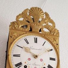 Relojes de pared: RELOJ MOREZ ANTIGUO DE CAMPANA RUEDA CATALINA CIRCA 1800 1810 MUY DETALLADO FUNCIONA ALTA COLECCIÓN. Lote 221925987