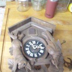 Relojes de pared: ANTIGUO CUCO SELVA NEGRA ALEMANIA- MOTIVOS DE CAZA- LOTE 314. Lote 221937398