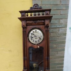 Relógios de parede: IMPRESIONANTE RELOJ ALFONSINO DE TRES CUERDAS SONERIA A CUARTOS. Lote 222170013