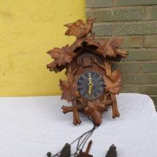 Relojes de pared: IMPRESIONANTE RELOJ CUCÚ SELVA NEGRA SIGLO XIX IMPECABLE. Lote 222172037