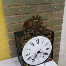 Relógios de parede: IMPRESIONANTE CABEZA DE RELOJ MOREZ DE CAMPANA. Lote 222174373
