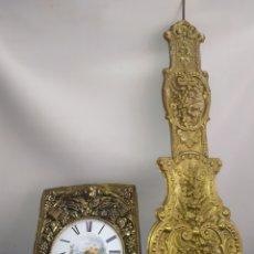Relojes de pared: IMPRESIONANTE RELOJ MOREZ SONERIA CAMPANA Y GON PENDULO REAL. Lote 222175076