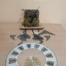 Relojes de pared: ANTIGUO MECANIZMO DE RELOJ DE PARED TEMPUS FUGIT. Lote 222290533