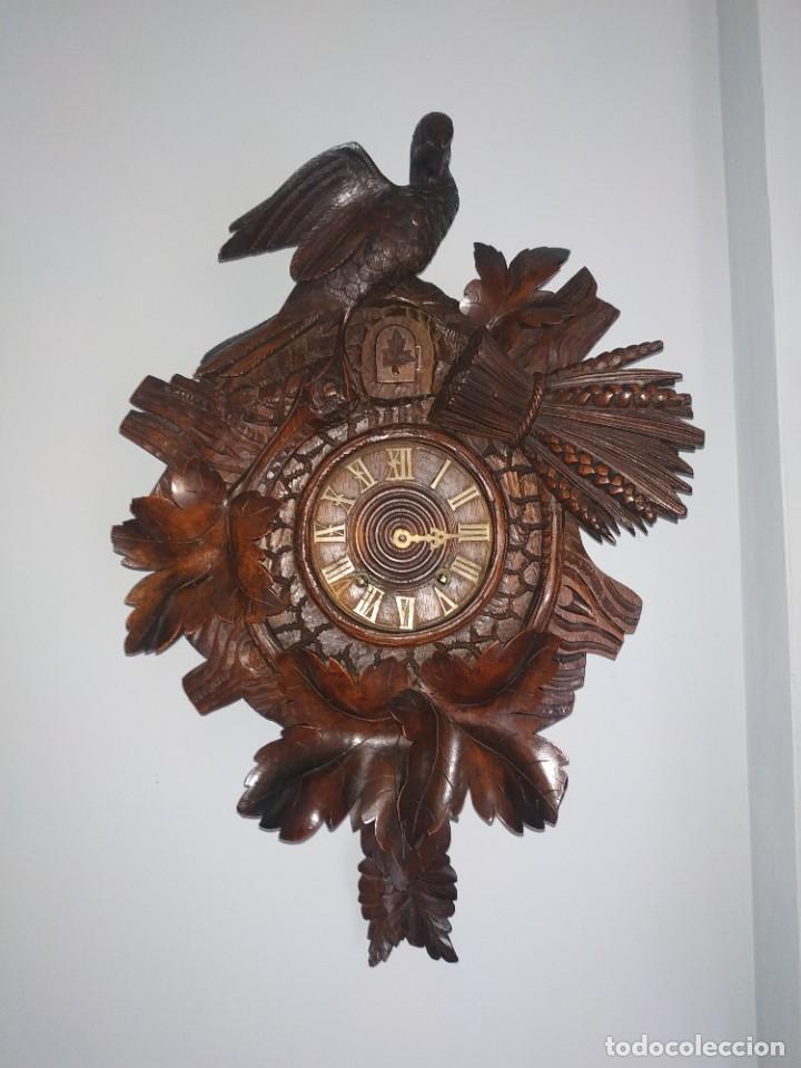 Relojes de pared: Reloj antiguo de pared selva negra - Foto 3 - 222409847