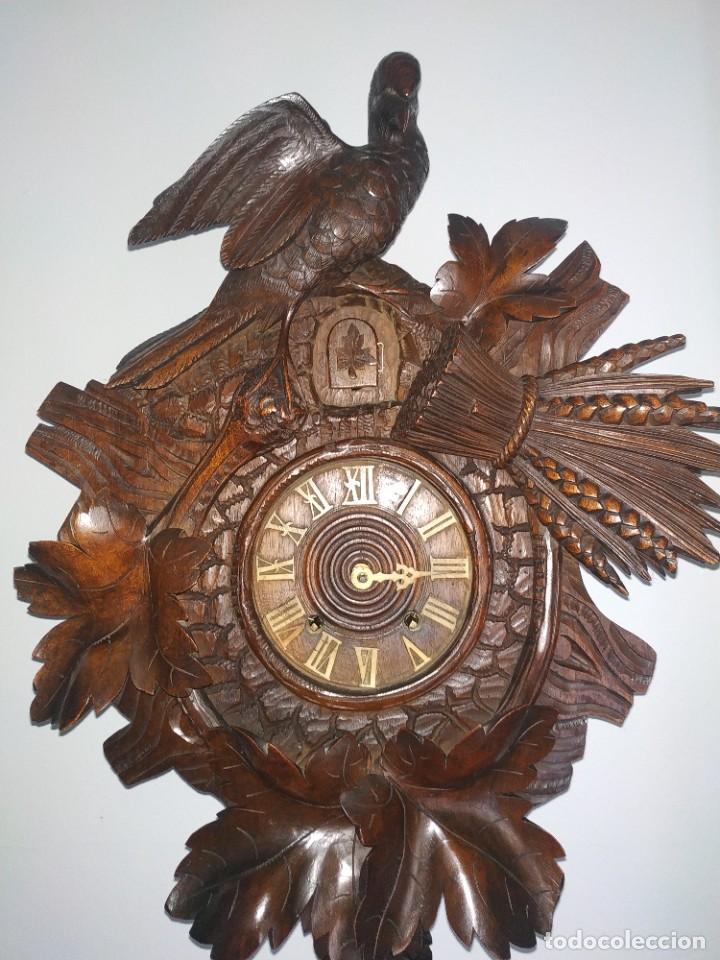 Relojes de pared: Reloj antiguo de pared selva negra - Foto 11 - 222409847