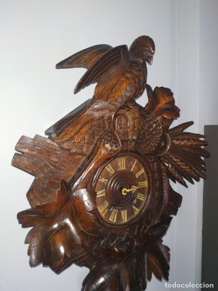 Relojes de pared: Reloj antiguo de pared selva negra - Foto 15 - 222409847
