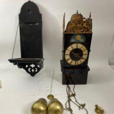 Relojes de pared: RELOJ DE LINTERNA DE PARED CON PEANA, TIPO HOLANDES. S.XVIII.. Lote 222650200