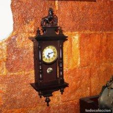 Relojes de pared: PEQUEÑO RELOJ DE PARED ALEMAN. Lote 222692467
