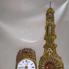 Relojes de pared: ANTIGUO RELOJ MOREZ DE CAMPANA PENDULO REAL SIGLO XIX. Lote 222836408
