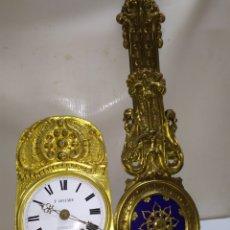 Relojes de pared: RELOJ MOREZ ANTIGUO PÉNDULO MUY DETALLADO SIGLO XIX IMPECABLE. Lote 222837541