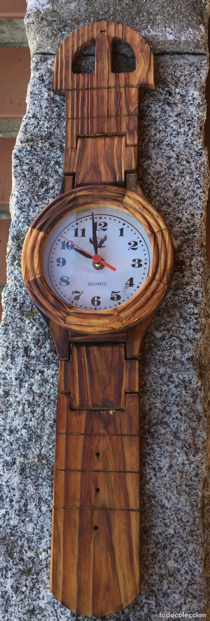 RELOJ DE PARED EN FORMA DE RELOJ DE BOLSILLO DE MADERA.QUARTZ (Relojes - Pared Carga Manual)
