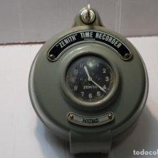 Relojes de pared: RELOJ DE FÁBRICA ZENITH TIME RECORDER AÑOS 40 ORIGINAL Y DIFICILISIMO FUNCIONANDO. Lote 223605450