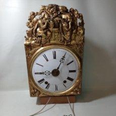 Relojes de pared: RELOJ MORET ORIGINAL FUNCIONA MEDIDAS FOTOGRAFIADAS. Lote 224002385