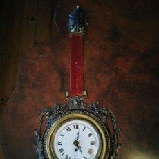 Relojes de pared: RELOJ DE PARED DE LA PRESTIGIOSA MARCA PERIS ANDREU VALENCIA, MECANICA ALEMANA, EN BRONCE FUNCIONA. Lote 225281518