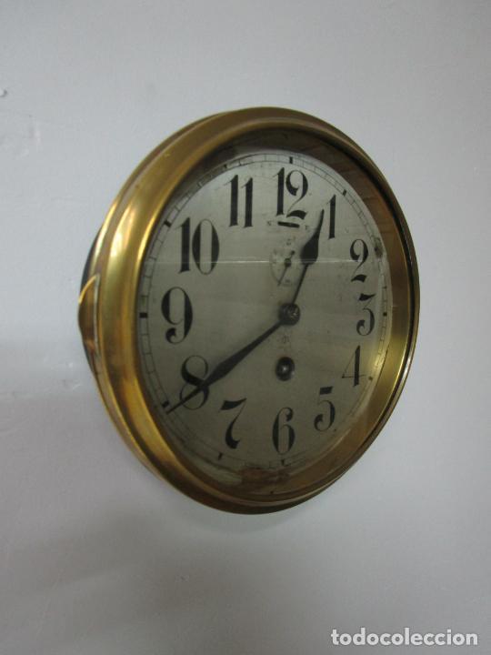 Relojes de pared: Antiguo Reloj de Barco - Marca Junghans - Reloj Pared - Funciona - Años 20-30 - Foto 2 - 225308272