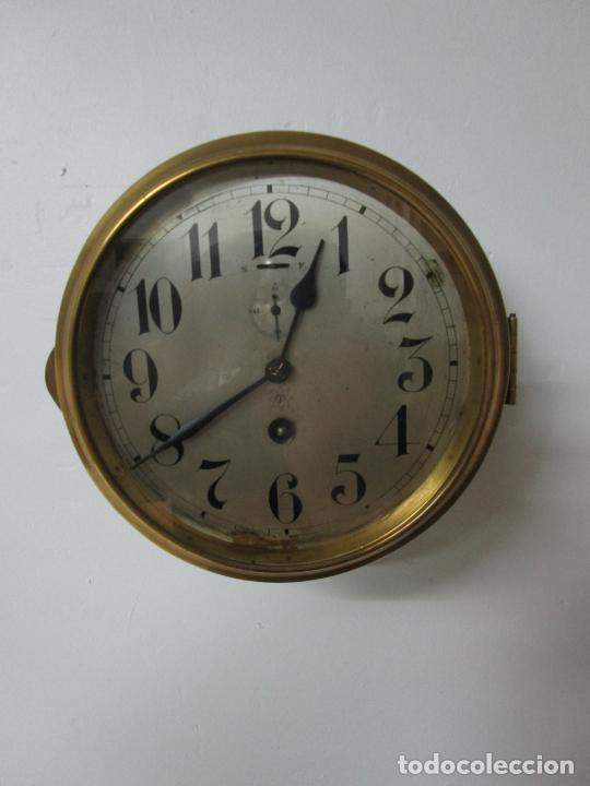 Relojes de pared: Antiguo Reloj de Barco - Marca Junghans - Reloj Pared - Funciona - Años 20-30 - Foto 6 - 225308272