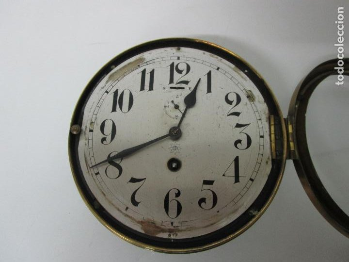 Relojes de pared: Antiguo Reloj de Barco - Marca Junghans - Reloj Pared - Funciona - Años 20-30 - Foto 8 - 225308272