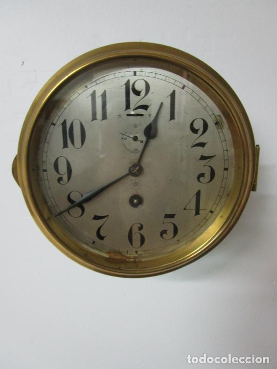 ANTIGUO RELOJ DE BARCO - MARCA JUNGHANS - RELOJ PARED - FUNCIONA - AÑOS 20-30 (Relojes - Pared Carga Manual)