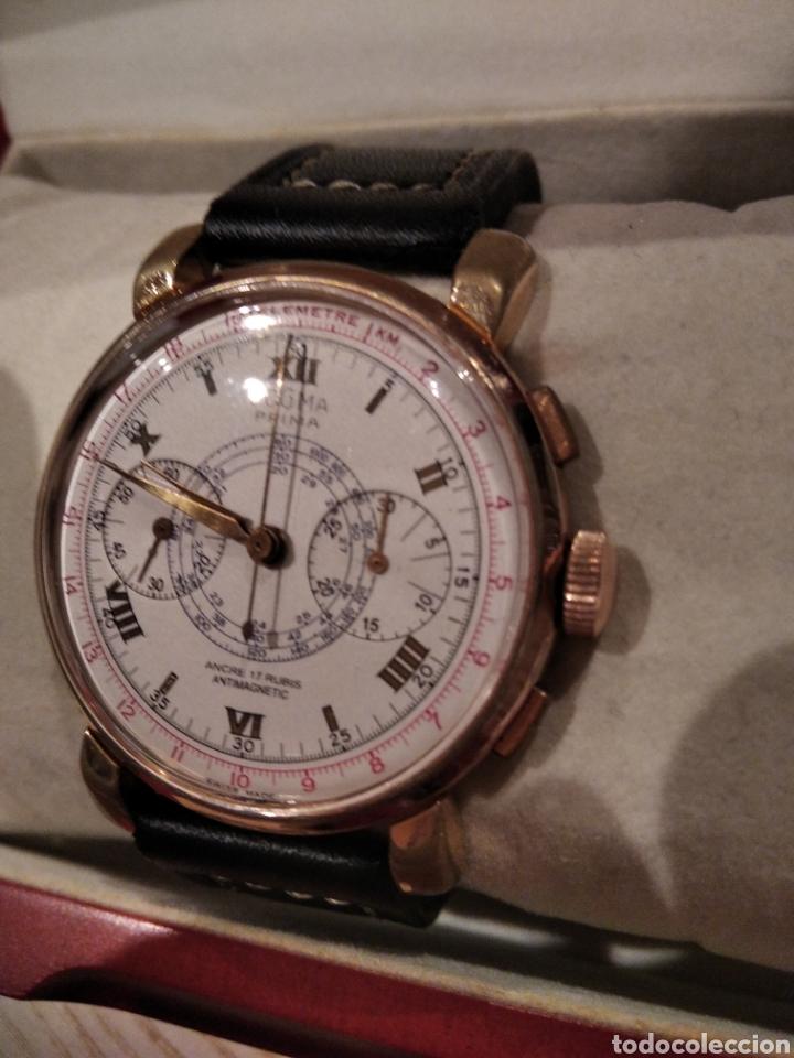 RELOJ CRONO DOGMA. DE GRAN TAMAÑO 38 MM CAUNY CITIZEN DUWARD SEIKO (Relojes - Pared Carga Manual)